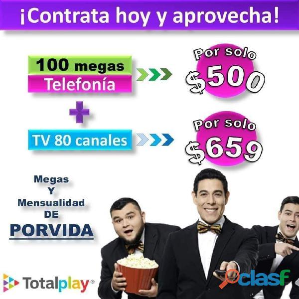 Total play, internet, telefonía y tv