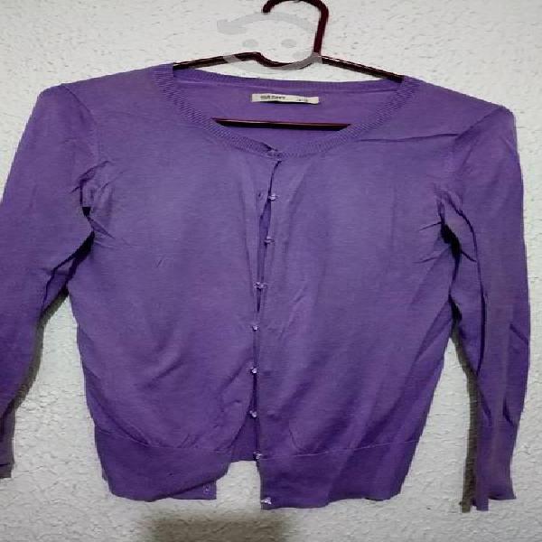 Old navy. suéter abierto color lila talla s