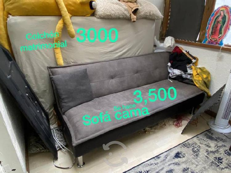 Sala en l / se hace king size sofá maca