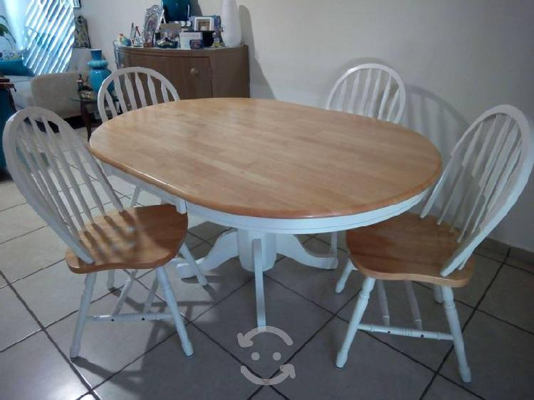 Antecomedor 100% madera 4 sillas