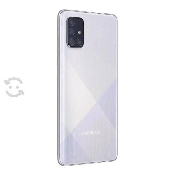 Smartphone samsung galaxy a71 128 gb plata desbloq