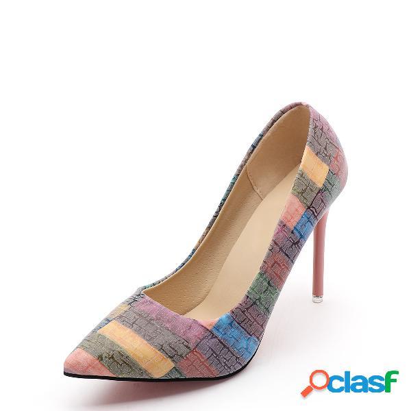 Contrato color point toe heels