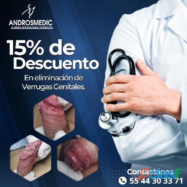 15% de descuento en eliminación de verrugas genitales