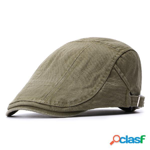 Hombre para mujer verano algodón retro beret cap pato sombrero sombrilla casual aire libre pico hacia adelante gorra