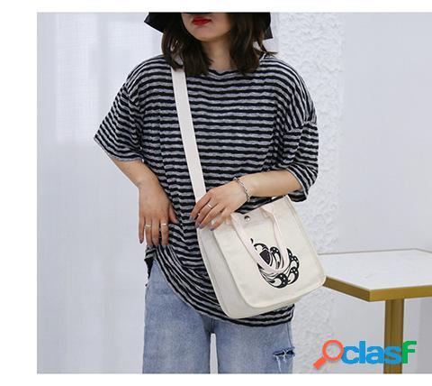 Nuevo original solo corea dongdaemun harajuku estilo bolsa de lona hombro femenino colgado bolsa pequeña portátil