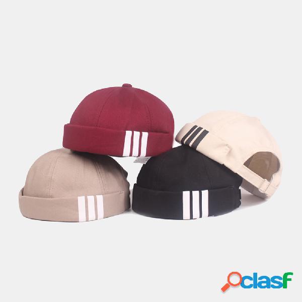 Mujer hombre cráneo gorras sombreros sin ala retro casual cráneo sombreros gorros sombreros