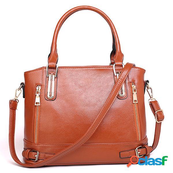 Mujer bolsos de cuero de pu señoras hombro bolsa totalizador bolsa retro femenino vendimia messenger bolsa