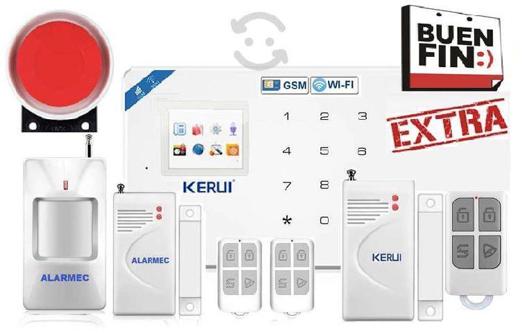 Alarma casa negocio wifi-gsm inalámbric seguridad