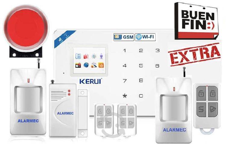 Alarma casa negocio wifi gsm inalámbrica seguridad