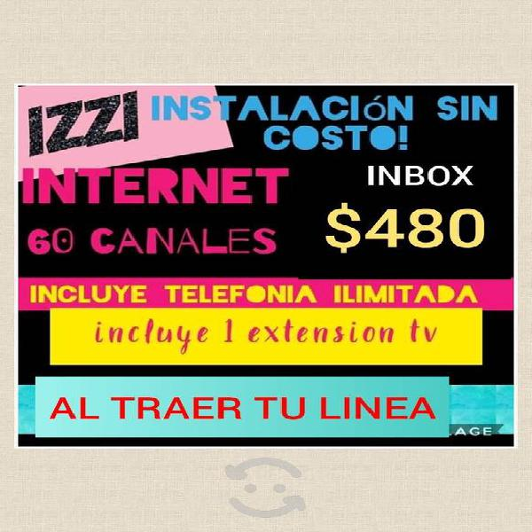 Cable, internet y telefonia!
