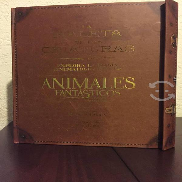 Libro animales fantásticos maleta de las criaturas
