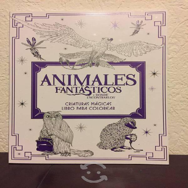 Libro animales fantásticos para colorear