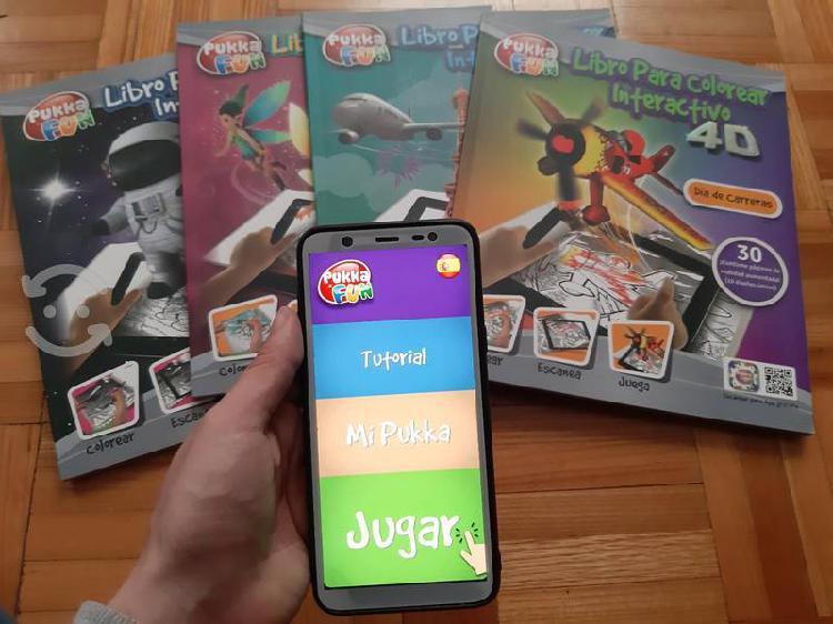 Libros para colorear interactivo 4d pukka fun