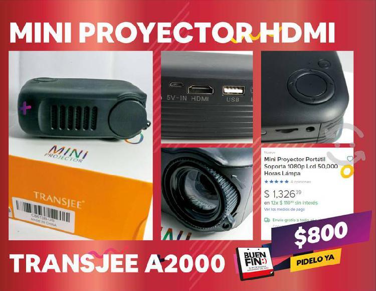 Mini proyector hdmi portátil