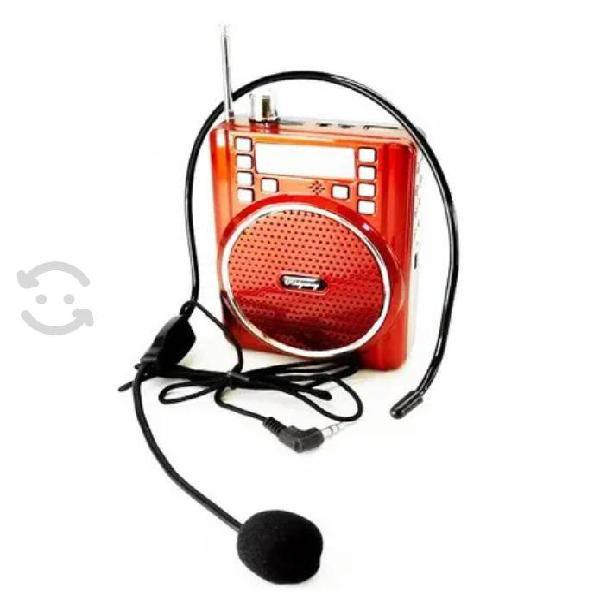 Megáfono portátil y radio fm