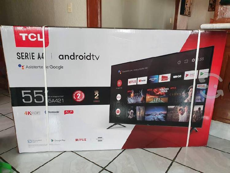 "Pantalla tcl 55"", smart tv 4k, bluetooth, nueva"