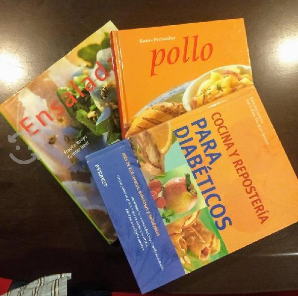 Tres libros de cocina sana
