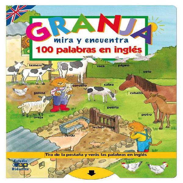 Granja mira y encuentra 100 palabras en ingles est