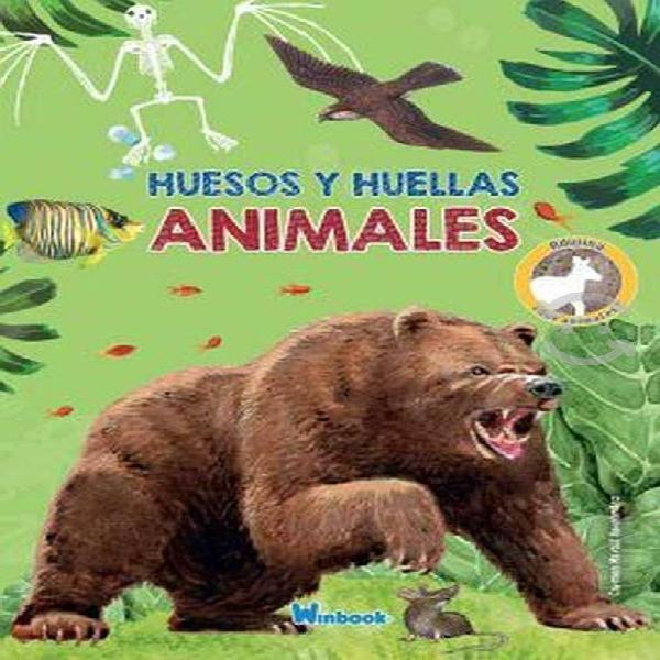 Huesos y huellas de animales salvajes oso