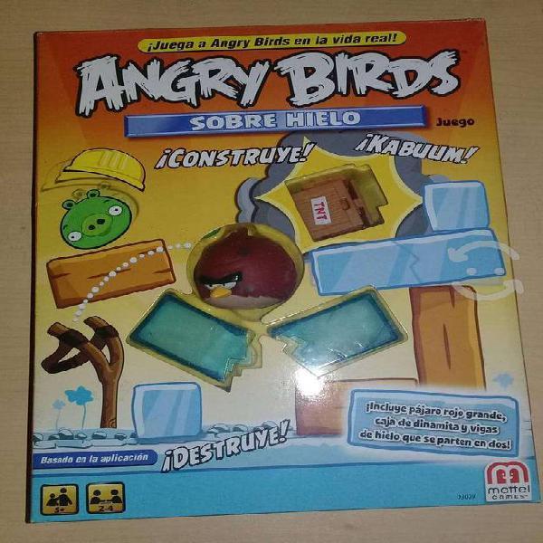 """Angry birds juego de mesa """"sobre hielo"""""""