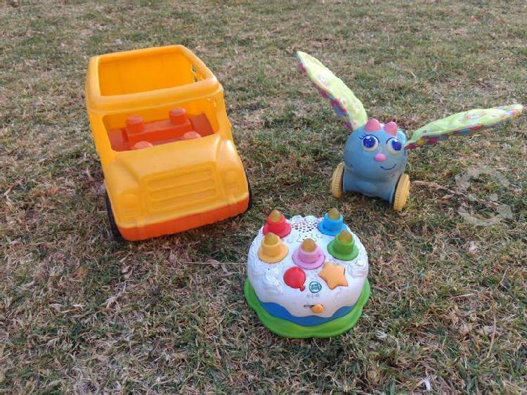 Lote juguetes bebé leap frog lamaze mega blocks