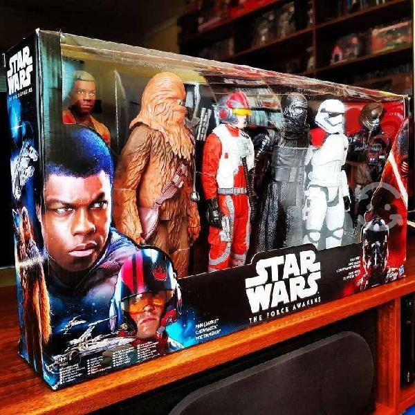 Star wars the force awakens pack 6 figuras chewbac
