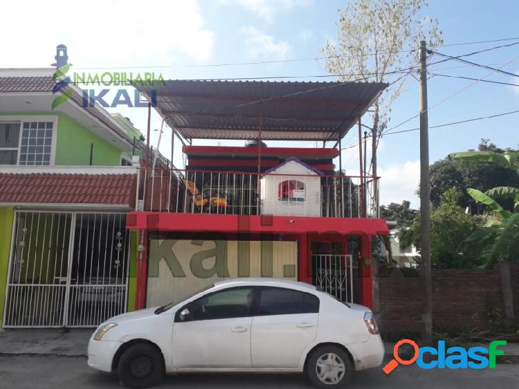 Renta casa 3 recamaras col. tamaulipas poza rica veracruz, tamaulipas