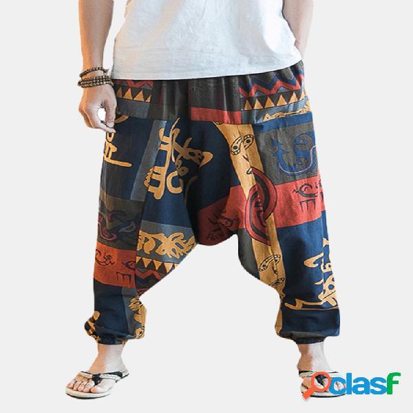 Pantalón amplio estilo étnico