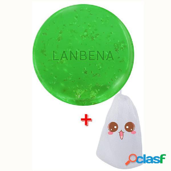 Jabón hecho a mano del aceite del árbol del té 24k de la limpieza del aceite esencial del acné que humedece el jabón de la eliminación de la espinilla