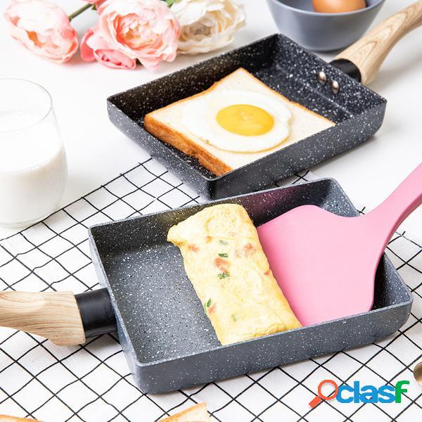 Cocina portátil antiadherente médico sartén con revestimiento de piedra omelette roll maker pot