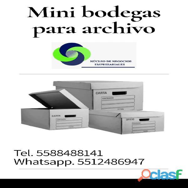 Espacio disponible para Archivo Muerto y Documentos,
