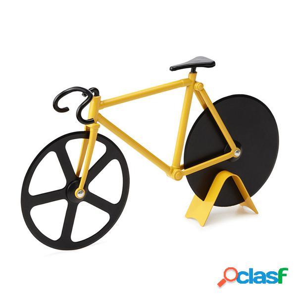 Honana cf-bw03 cortador de pizza de bicicleta profesional de acero inoxidable antiadherente bicicleta pizza slicer redonda