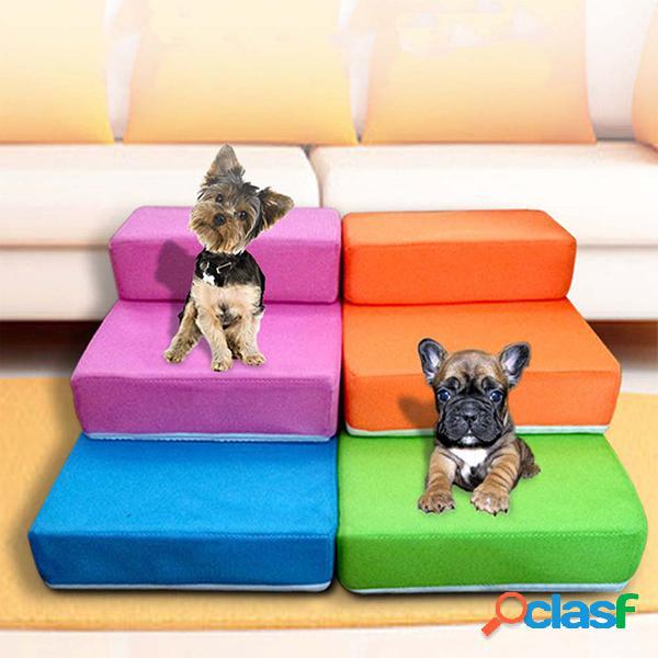 Escaleras para mascotas escalera de gato para perros pu plegable de cuero easy up dog 2 escalones de rampa