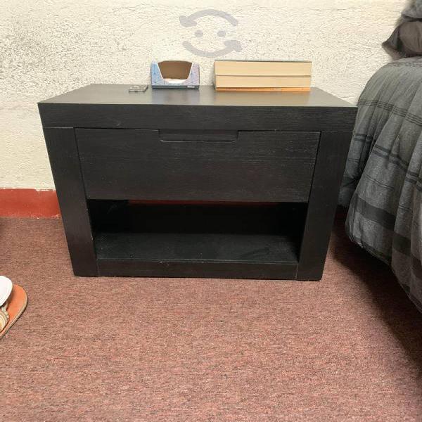 Buró negro una sola pieza con cajón