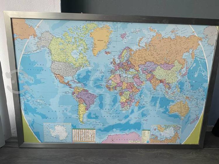 Mapa del mundo con marco para viajes
