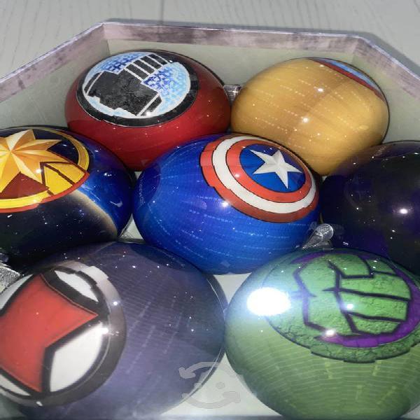 Navidad // avengers/ esferas navideñas de avengers