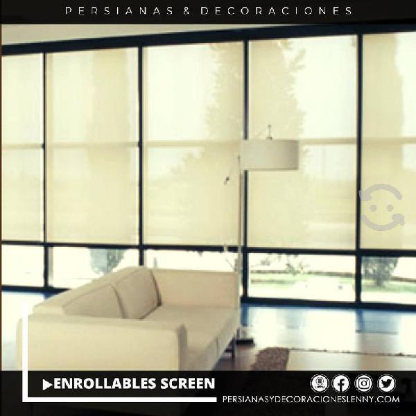 Persianas enrrollables screen