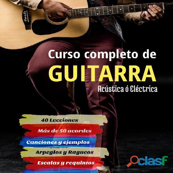 Curso completo para guitarra eléctrica. Online.
