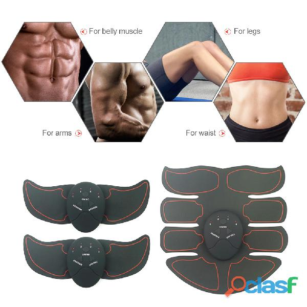 Estimulador muscular ems trainer dispositivo de entrenamiento de ejercitador de músculos abdominales