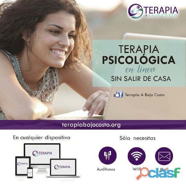 Terapia psicológica a bajo costo