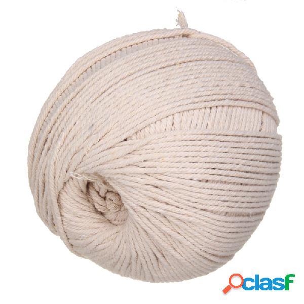 La cuerda hecha a mano del paquete del yute del cordón torcido del algodón hace a mano la decoración 5mm / 100m