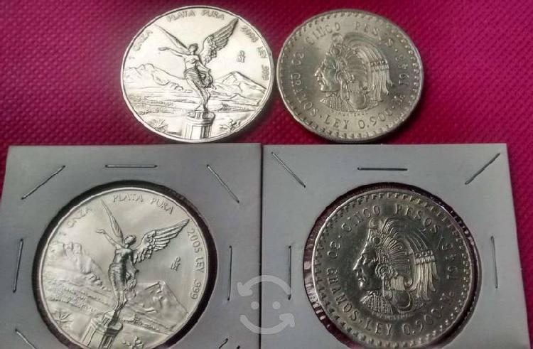 4 monedas de plata