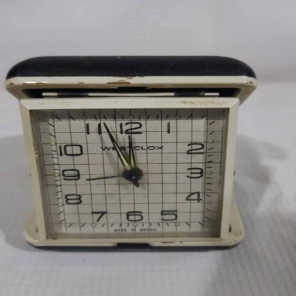 Antiguo reloj de mesa westclox made in brazil