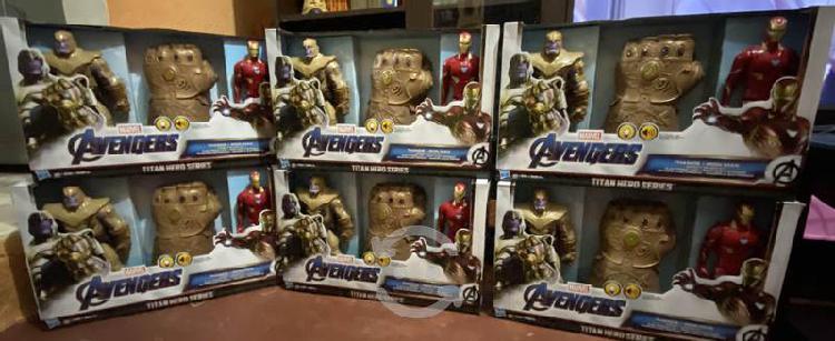 Avengers paquete (thanos, guantelete, ironman)