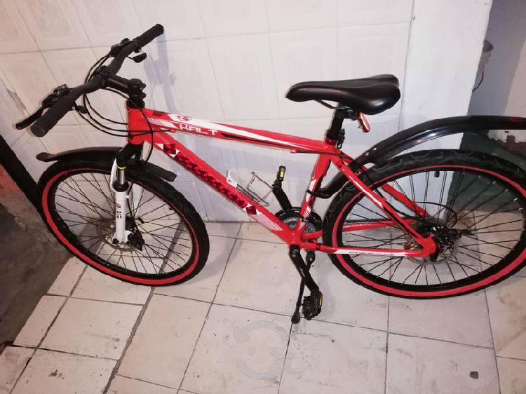 Bicicleta monk kalt de aluminio con frenos d disco
