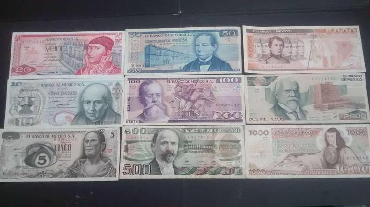 Billetes serie completa
