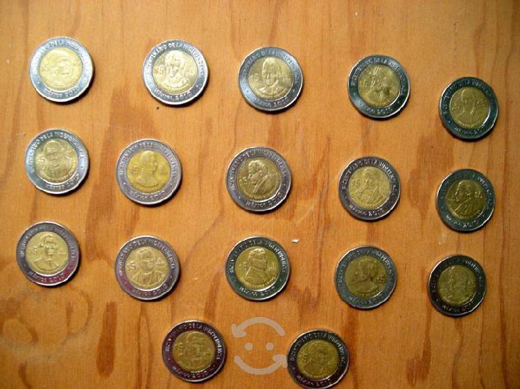 Monedas del bicentenario y centenario sueltas