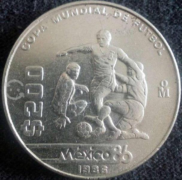 Moneda mundial mexico 86' conmemorativa
