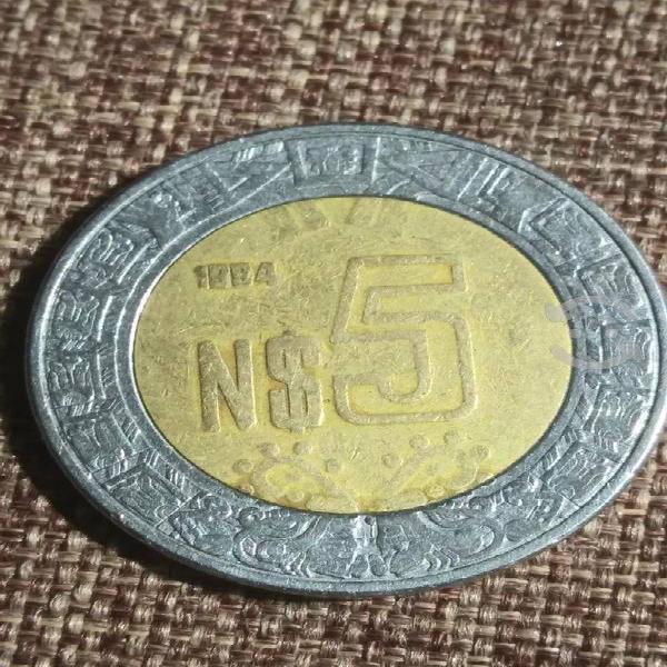 Moneda de 5 nuevos pesos 1994
