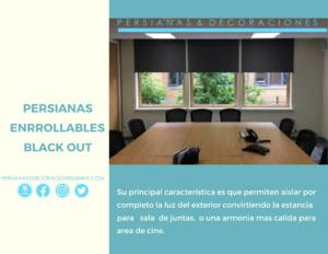 Persianas enrollables black out oscuridad total